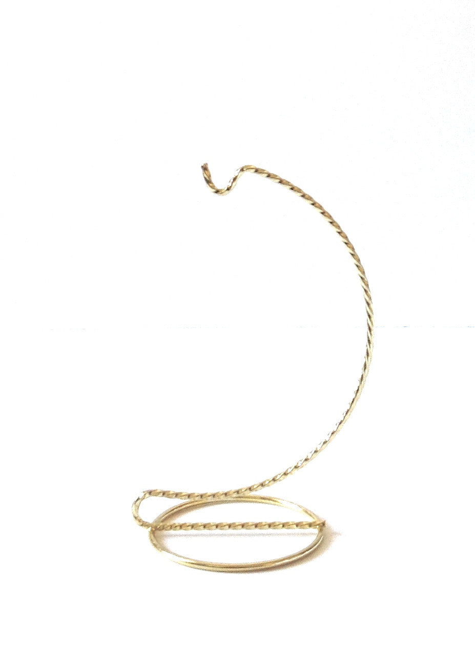 Brass ornament stand - Twisted Wire 6 Inch Ornament Stand