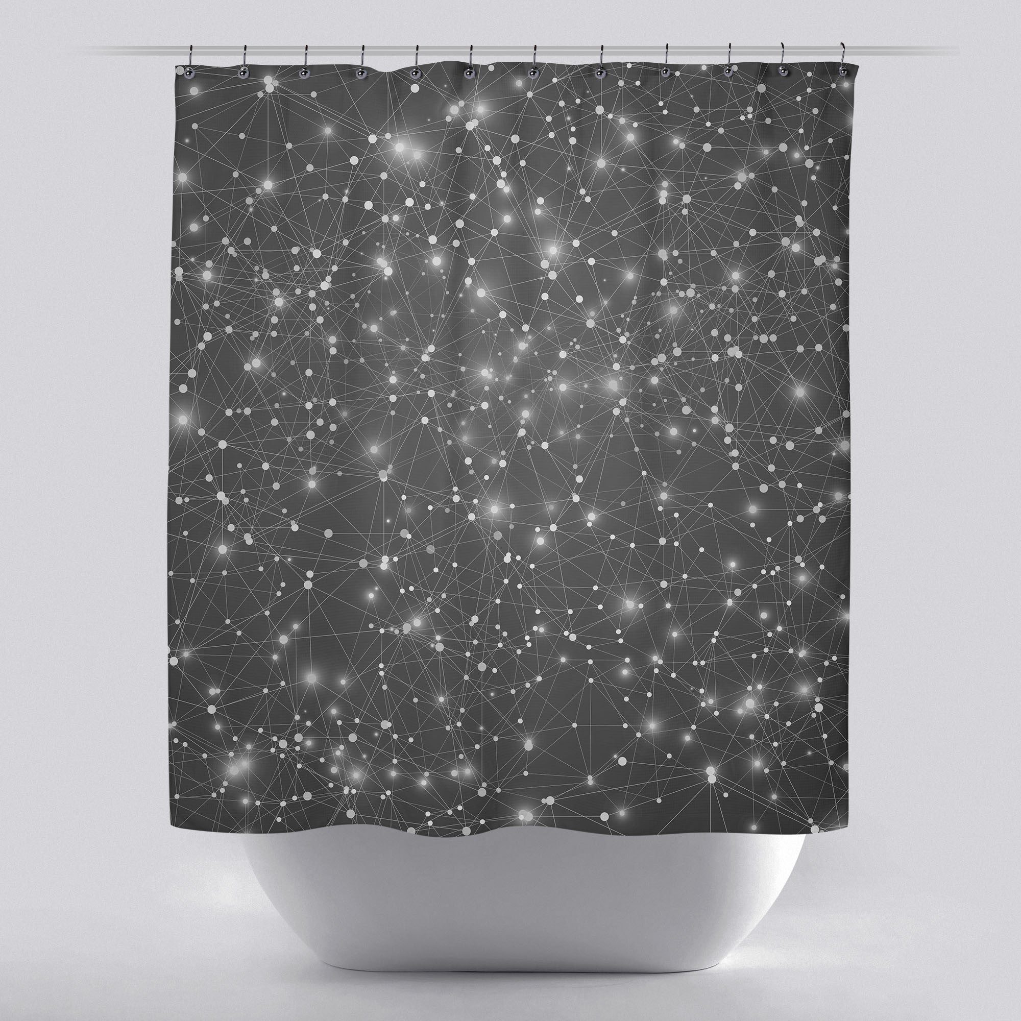 Unique shower curtain logic geometric web by soaring for Awesome shower curtains