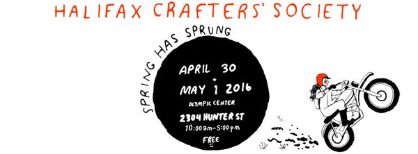 Halifax Crafters Spring 2016 poster