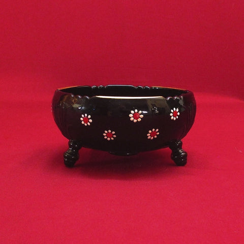 Beautiful Black Milk Glass Bowl - Great Deals Webstore