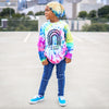 Neon tie dye long sleeve OR short sleeve | you choose design