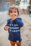 unattended snacker | long sleeve | navy