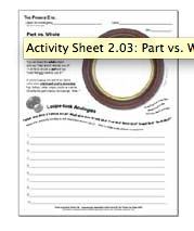The Private Eye Activity Sheet 2.03: Part vs. Whole
