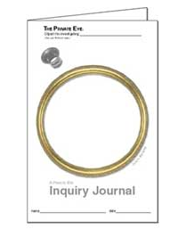 The Private Eye Activity Sheet 1.05: Inquiry Journal - Gold Frame