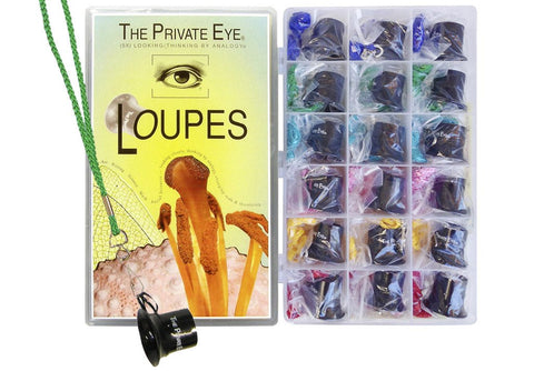 The Private Eye Half Class Loupe Set with Lanyards