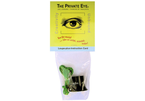 The Private Eye Loupe-on-a-Lanyard with Instruction Card