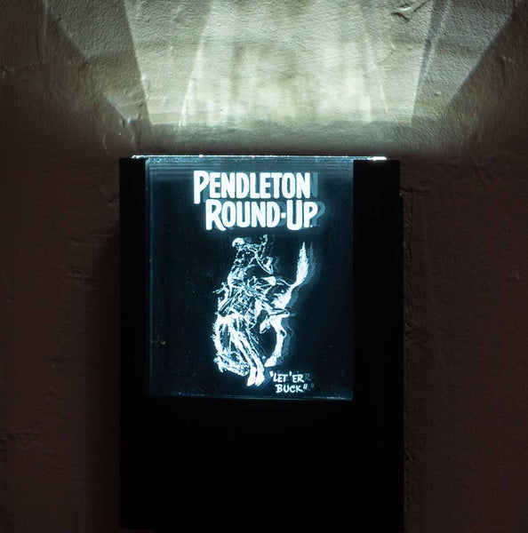 Pendleton Round-Up Night Light - Black and White