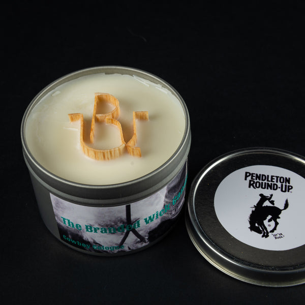 Pendleton Round-Up RU Branded Wick Candle
