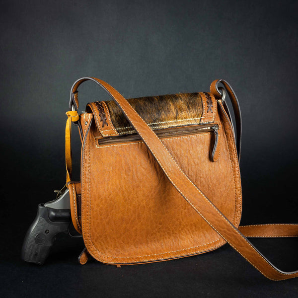 Pendleton Round-Up Ella Faux Hair On Messenger Bag