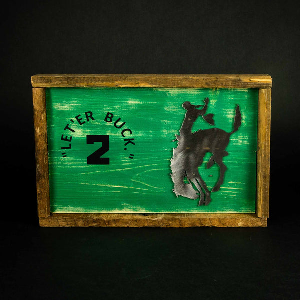 Pendleton Round-Up Wooden Chutes Sign