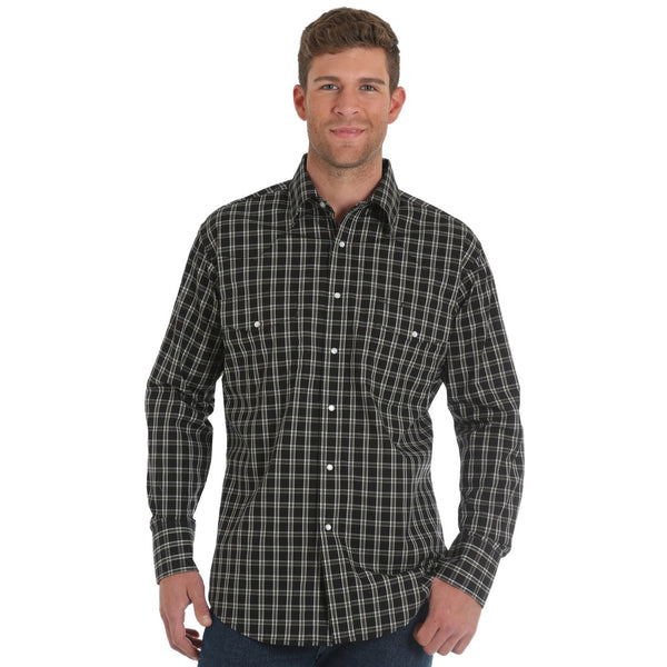 Men's Wrangler Pendleton Round-Up Plaid Long Sleeve Button Up