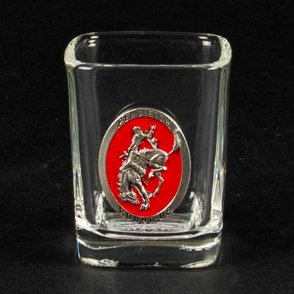Pendleton Round-Up Pewter Square Shot Glass