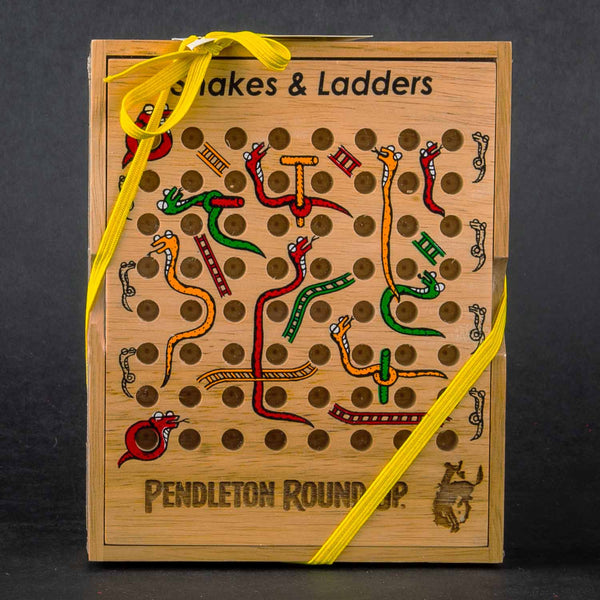 Pendleton Round-Up Teak Snakes & Ladders Set