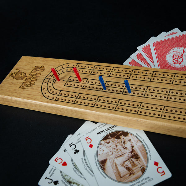 Pendleton Round-Up Teak Cribbage Board