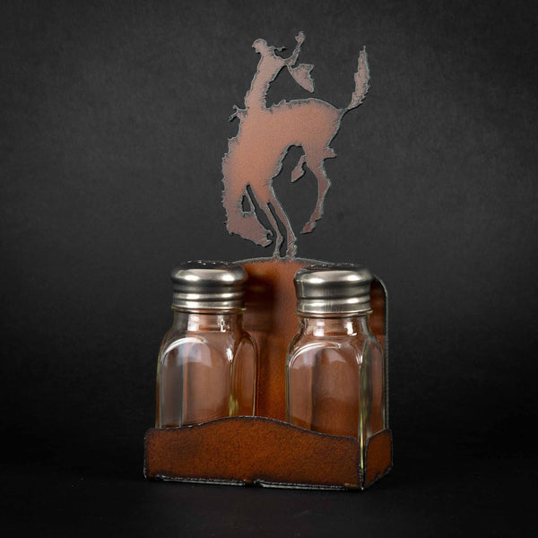 Pendleton Round-Up Metal Salt & Pepper Caddy Set