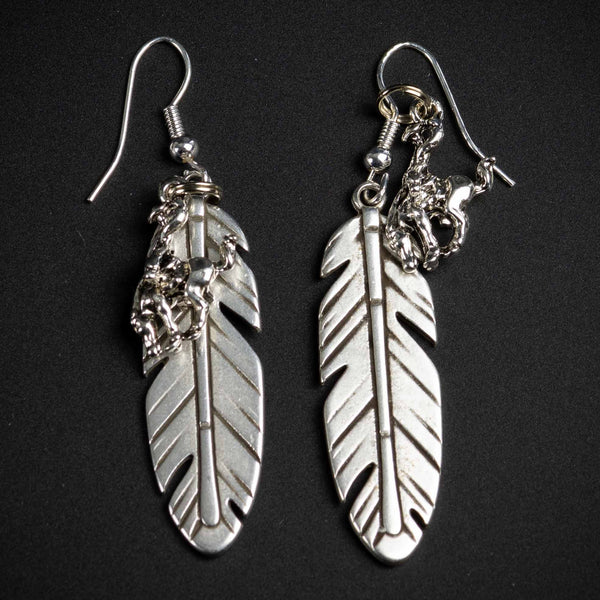 Pendleton Round-Up Feather Earrings