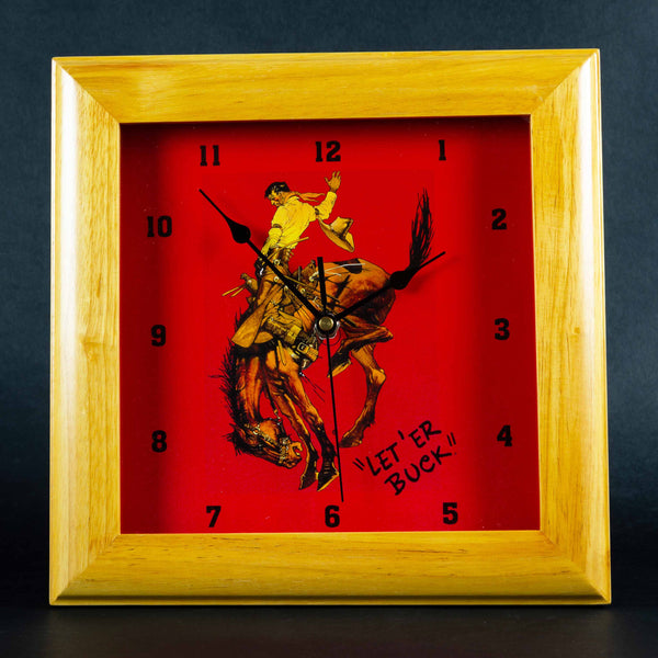 Pendleton Round-Up Square Clock