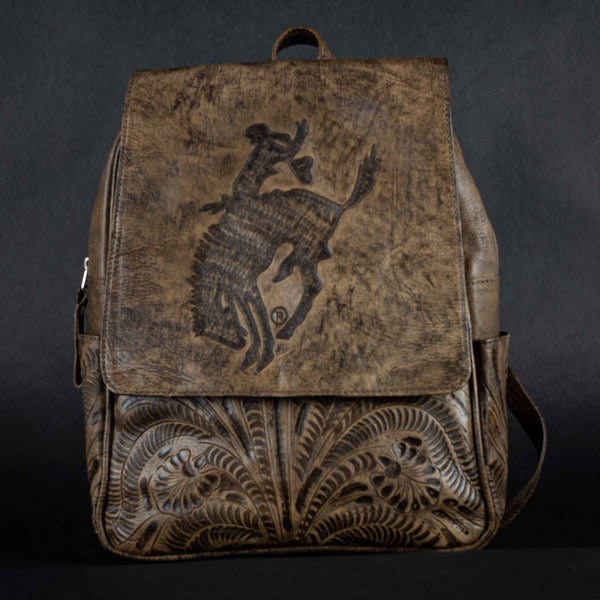 Pendleton Round-Up Tooled Leather Backpack