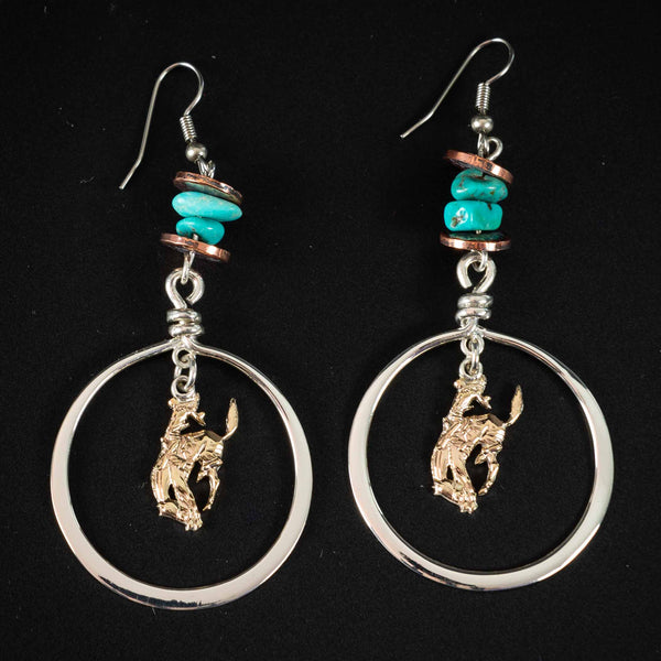 Pendleton Round-Up Vogt Turquoise Copper Earrings