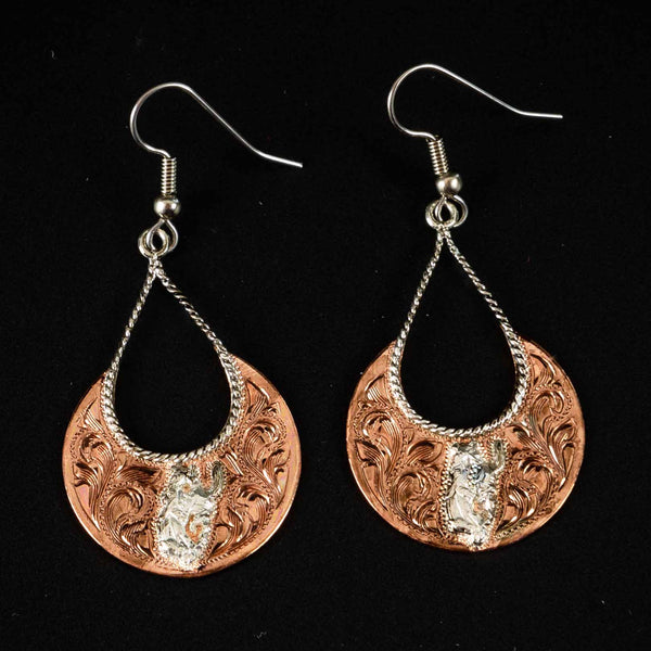 Pendleton Round-Up Vogt Copper Disc Earrings