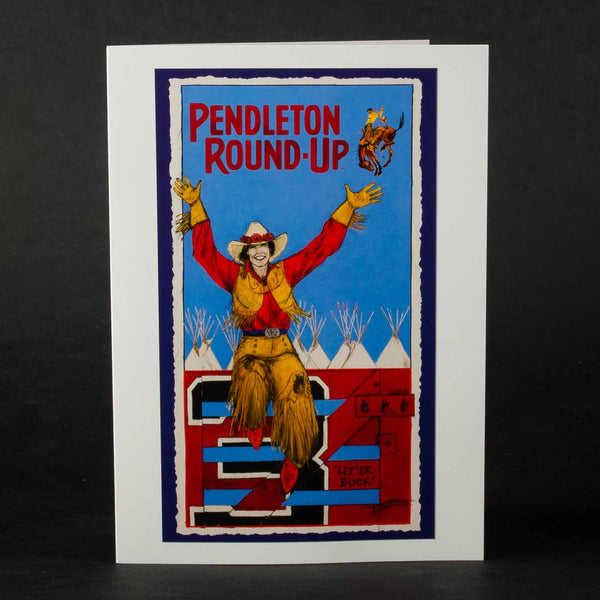 Single Pendleton Round-Up Donna Howell-Sickles Greeting Card