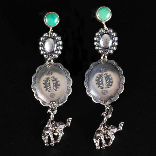 Pendleton Round-Up Turquoise Concho Earrings