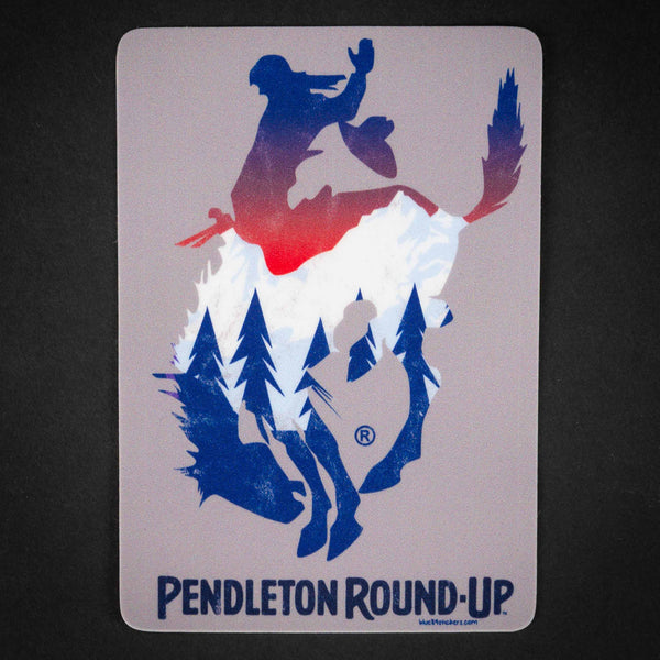 Pendleton Round-Up Cascaded Sticker