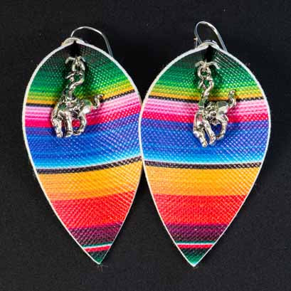 Pendleton Round-Up Serape Teardrop Earrings
