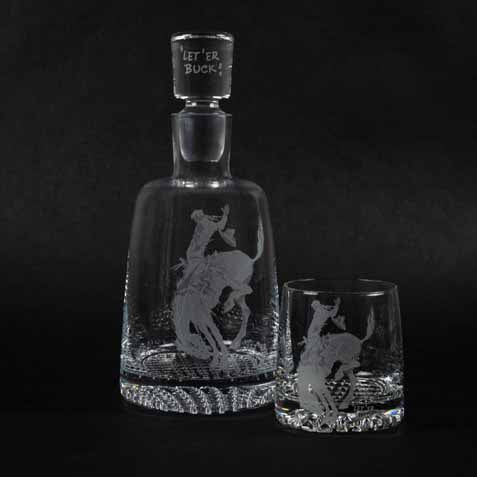 Pendleton Round-Up Crystal Decanter
