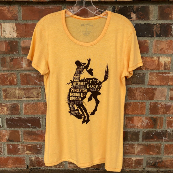 Ladies Pendleton Round-Up Palmer Cash Words Tee