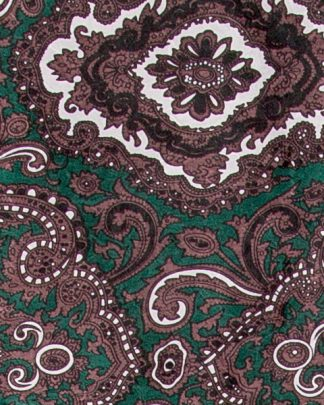 Pendleton Round-Up Green/Brown Paisley Silk Wild Rag