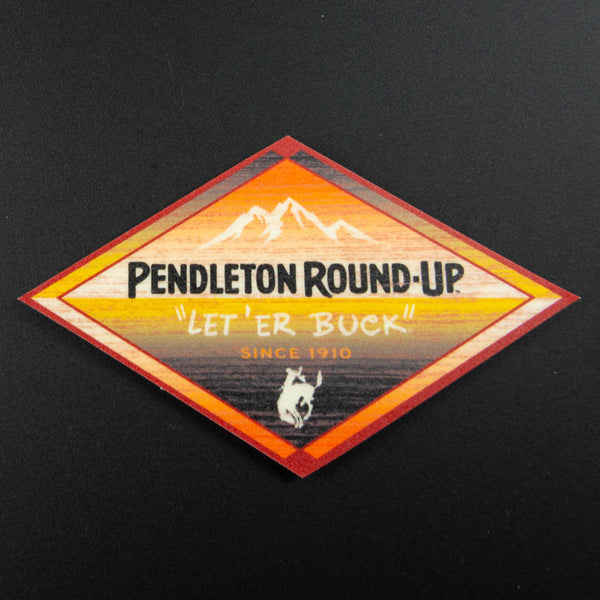 Pendleton Round-Up Deposit Mountain Sticker