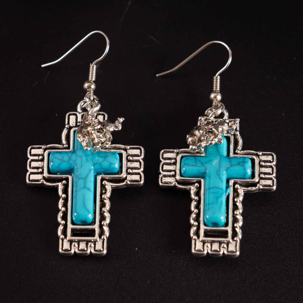 Pendleton Round-Up Cross Earrings