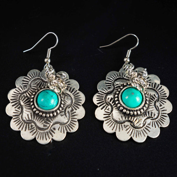 Pendleton Round-Up Concho Earrings