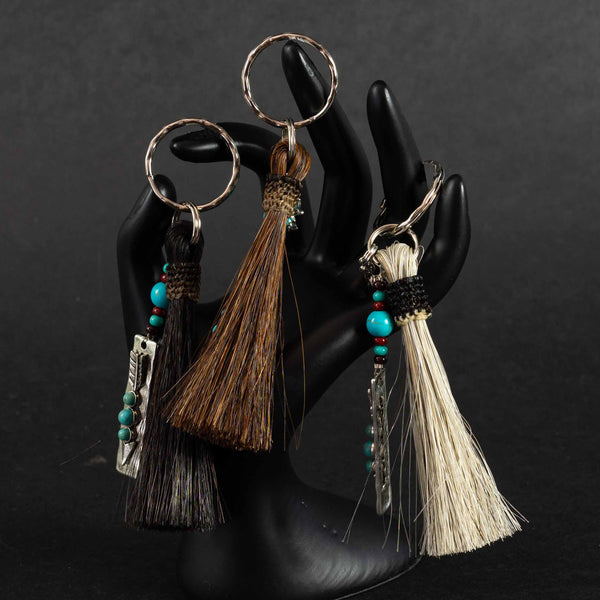 Pendleton Round-Up Horse Hair Arrow Keychain