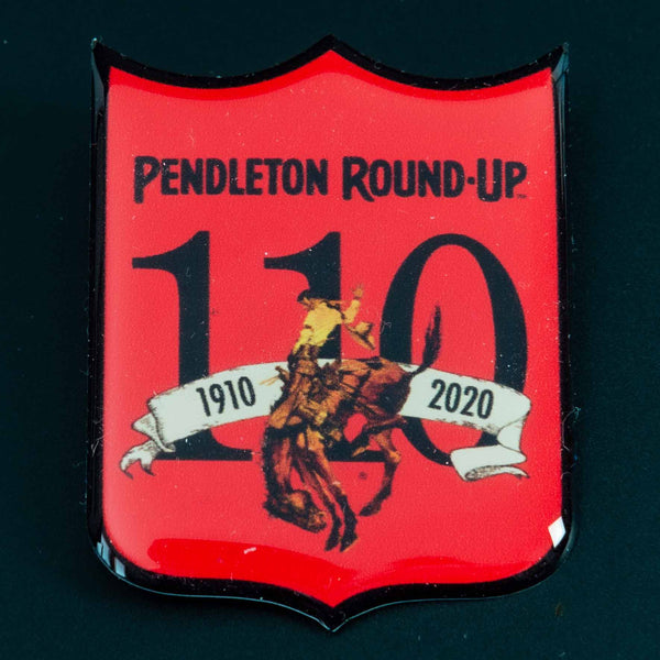 Pendleton Round-Up 110th Anniversary Domed Sticker