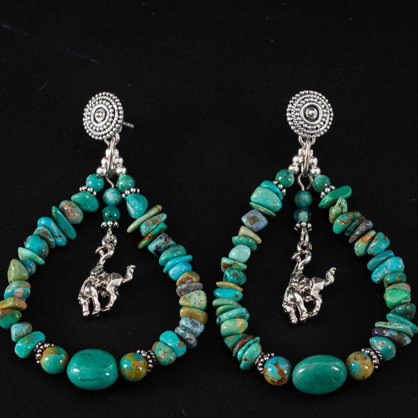 Pendleton Round-Up Turquoise Teardrop Earrings