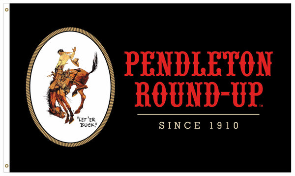 Pendleton Round-Up Black Flag