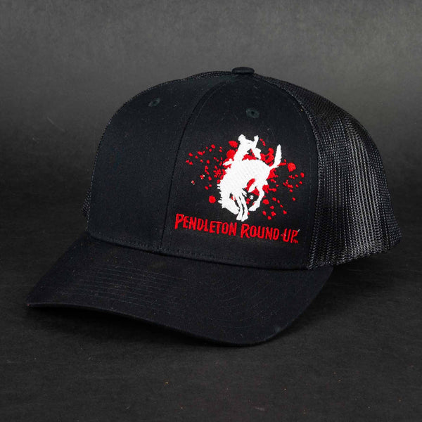 Pendleton Round-Up Black/Red Splatter Hat