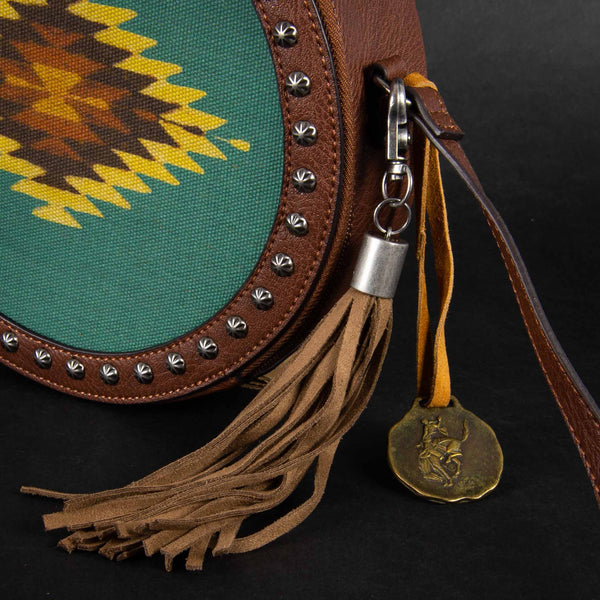 Pendleton Round-Up Zapotec Aztec Canteen Bag