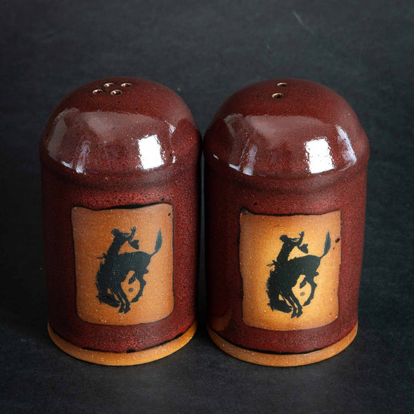Pendleton Round-Up Pottery Salt & Pepper Shaker Set