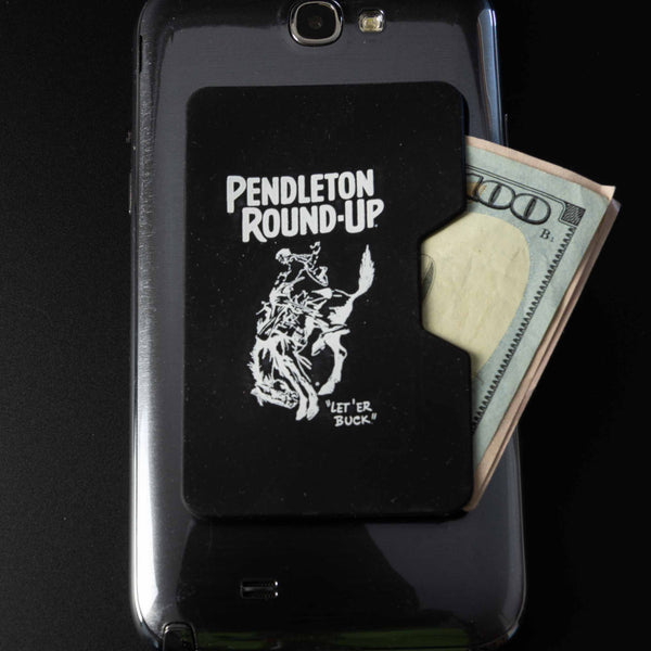 Black Pendleton Round-Up Silicone Phone Wallet