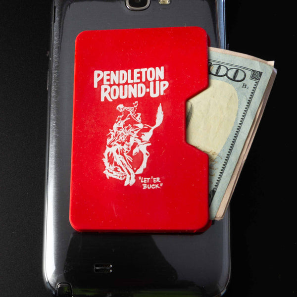 Red Pendleton Round-Up Silicone Phone Wallet