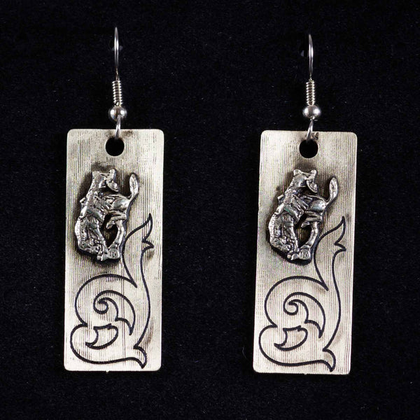 Pendleton Round-Up Montana Silversmiths Scroll Earrings