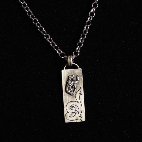 Pendleton Round-Up Montana Silversmiths Scroll Necklace