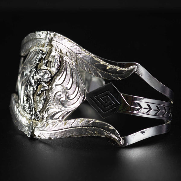 Pendleton Round-Up Montana Silversmiths Feather Cut Out Cuff