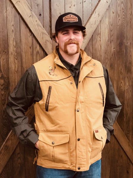 Men's Outback Pendleton Round-Up Conceal Carry Cattleman Vest