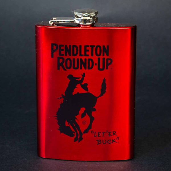 Pendleton Round-Up Red Flask