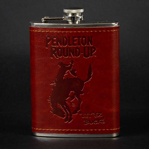 Pendleton Round-Up Leather Wrap Flask