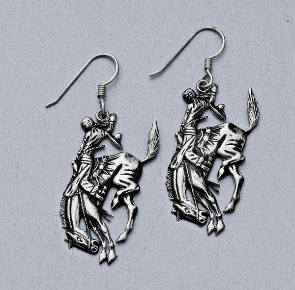 Pendleton Round-Up Vogt Dangling Bucking Horse Earrings